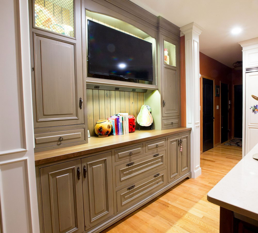 Two Colored Kitchen Cabinets