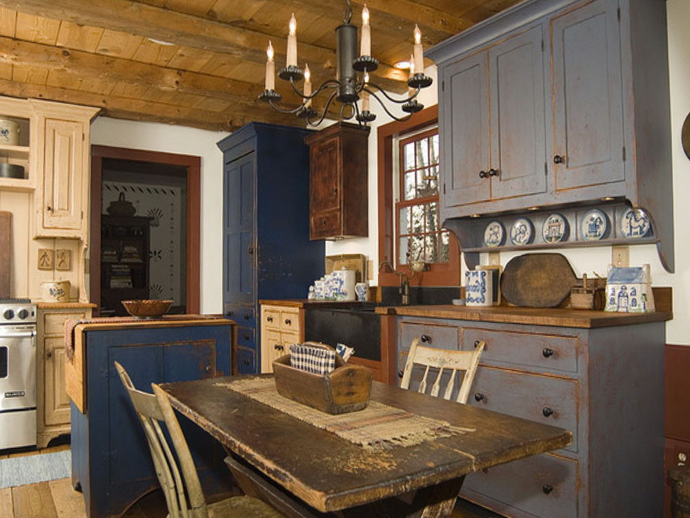 Vintage Farmhouse Kitchen Cabinets