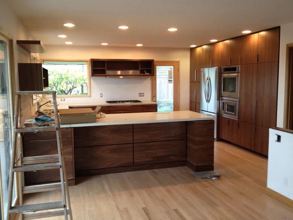 Walnut Kitchen Cabinets Granite Countertops