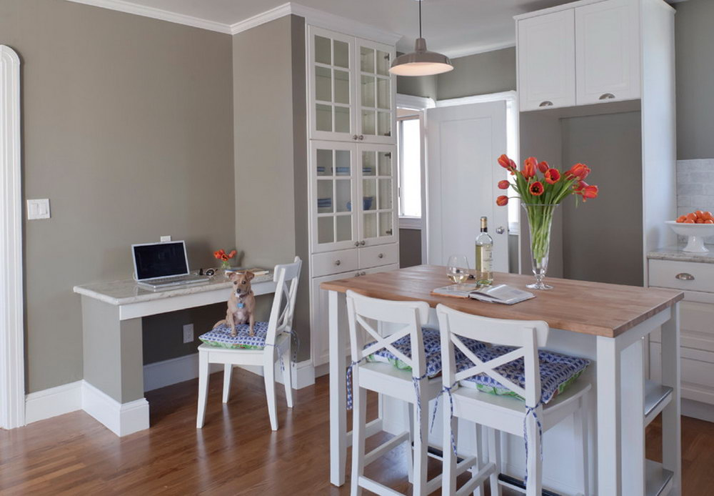 What Color To Paint Kitchen Cabinets With Grey Walls
