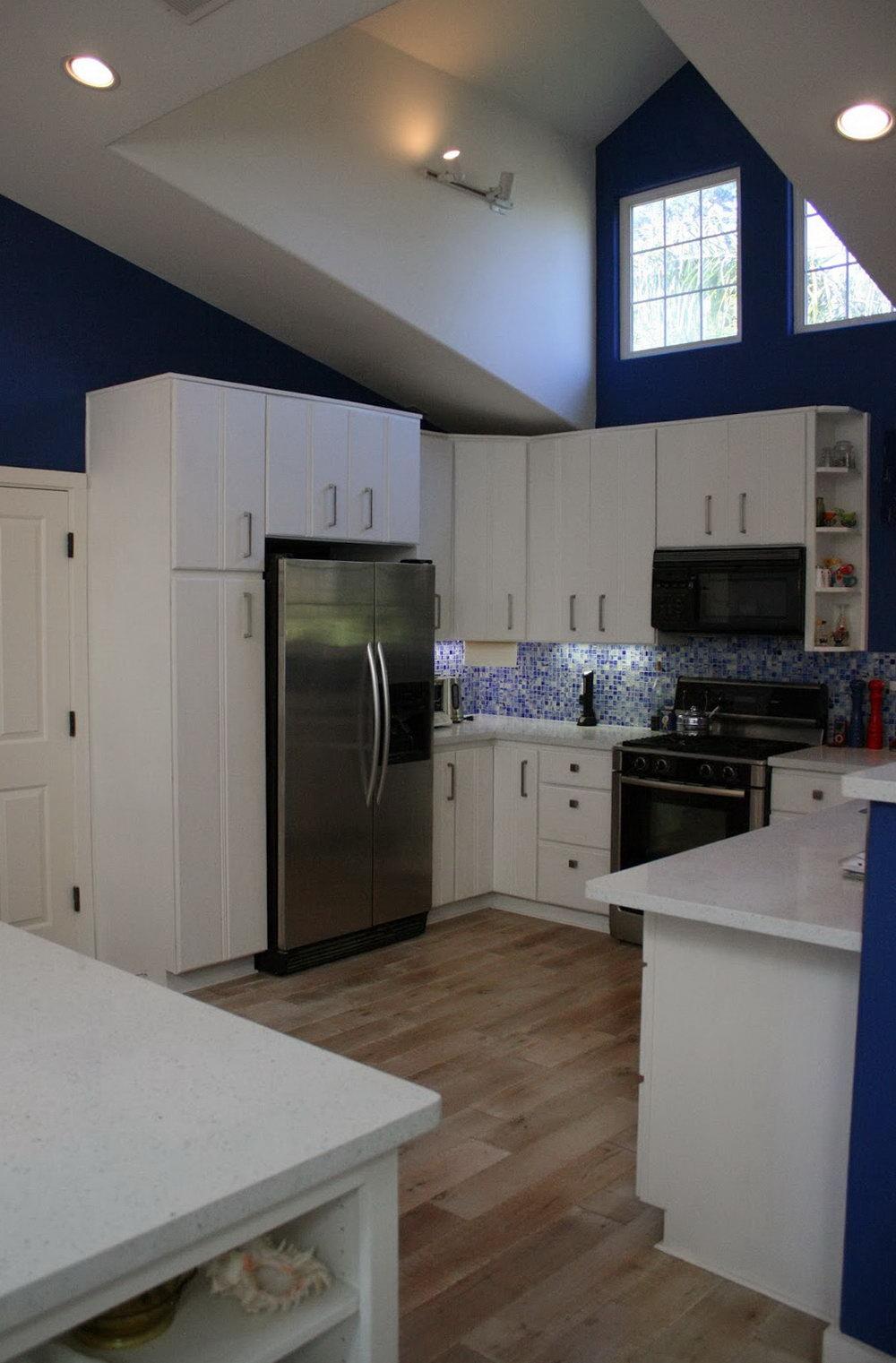 White Chalk Painted Kitchen Cabinets
