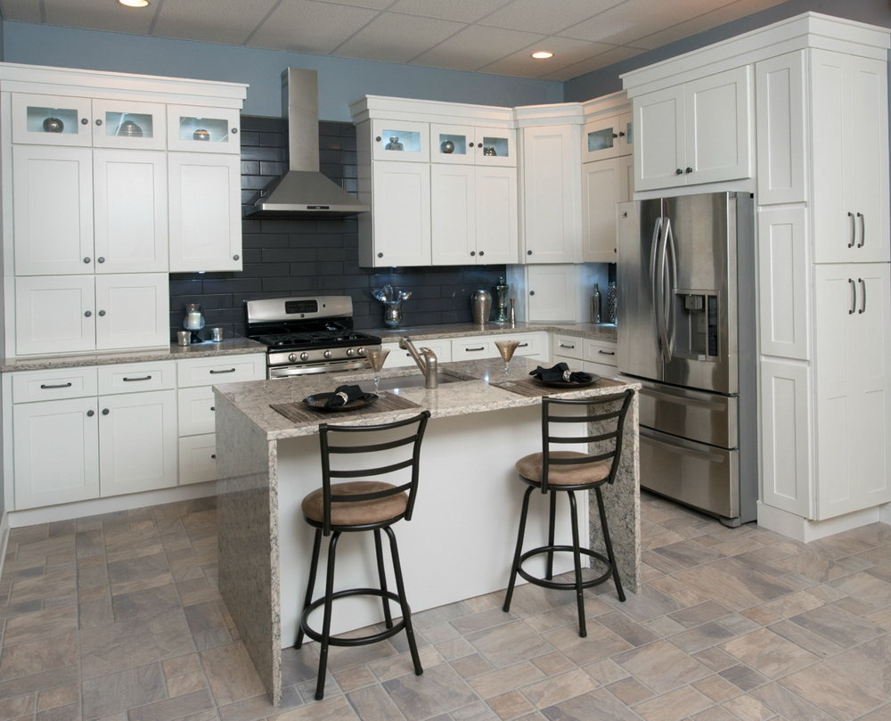 White Shaker Kitchen Cabinets With Granite Countertops