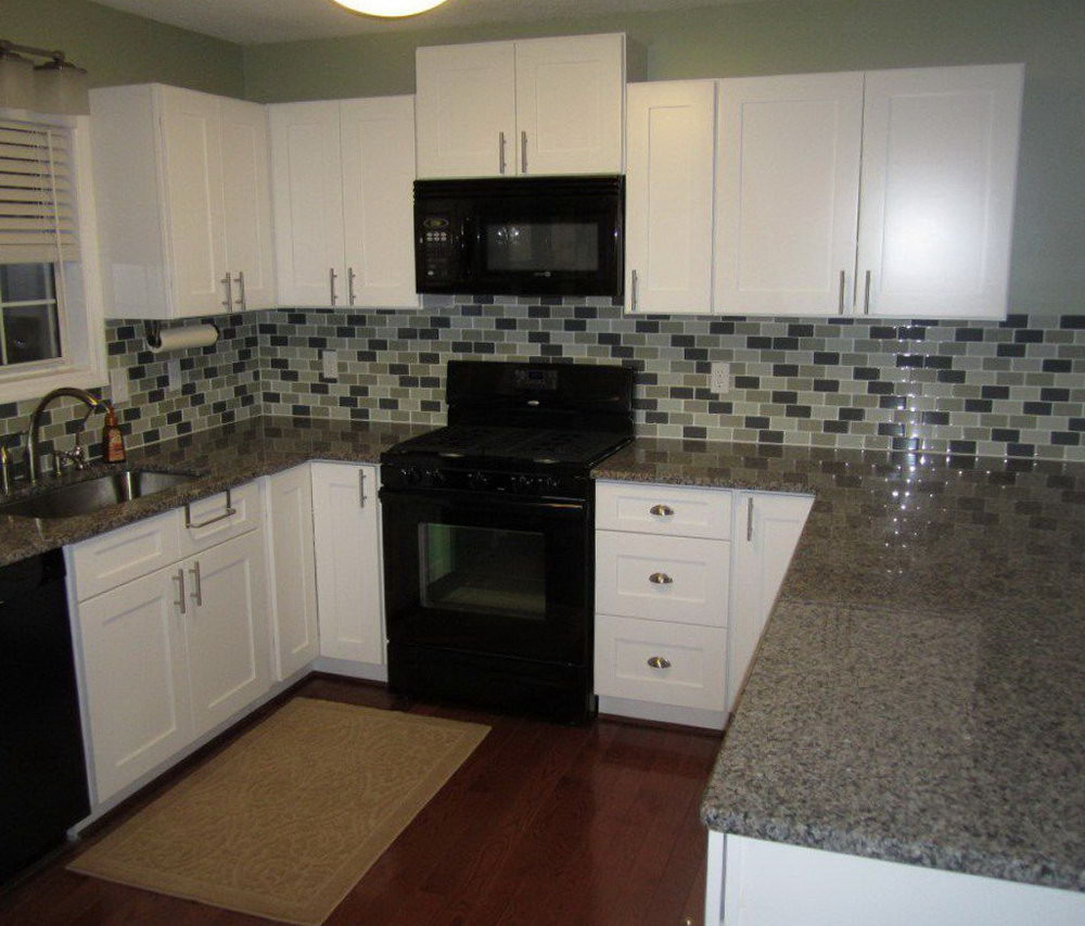 White Slab Kitchen Cabinet Doors