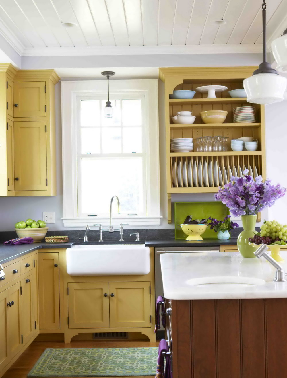 Yellow Kitchen Cabinets What Color Walls