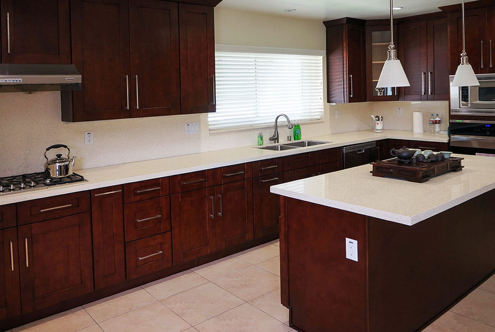 African Mahogany Kitchen Cabinets