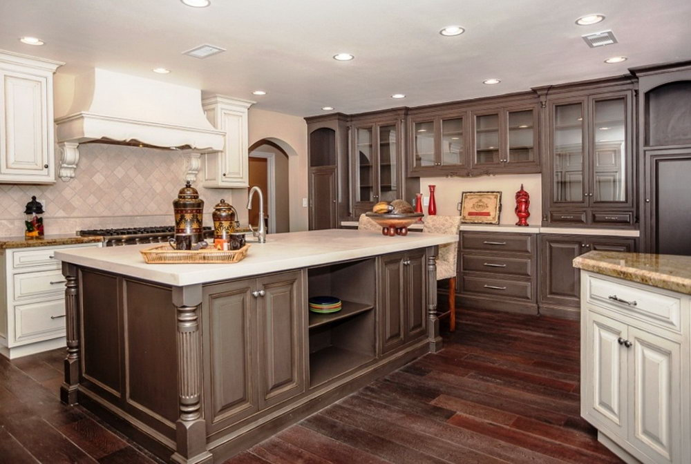 Best Color For Kitchen With Dark Cabinets