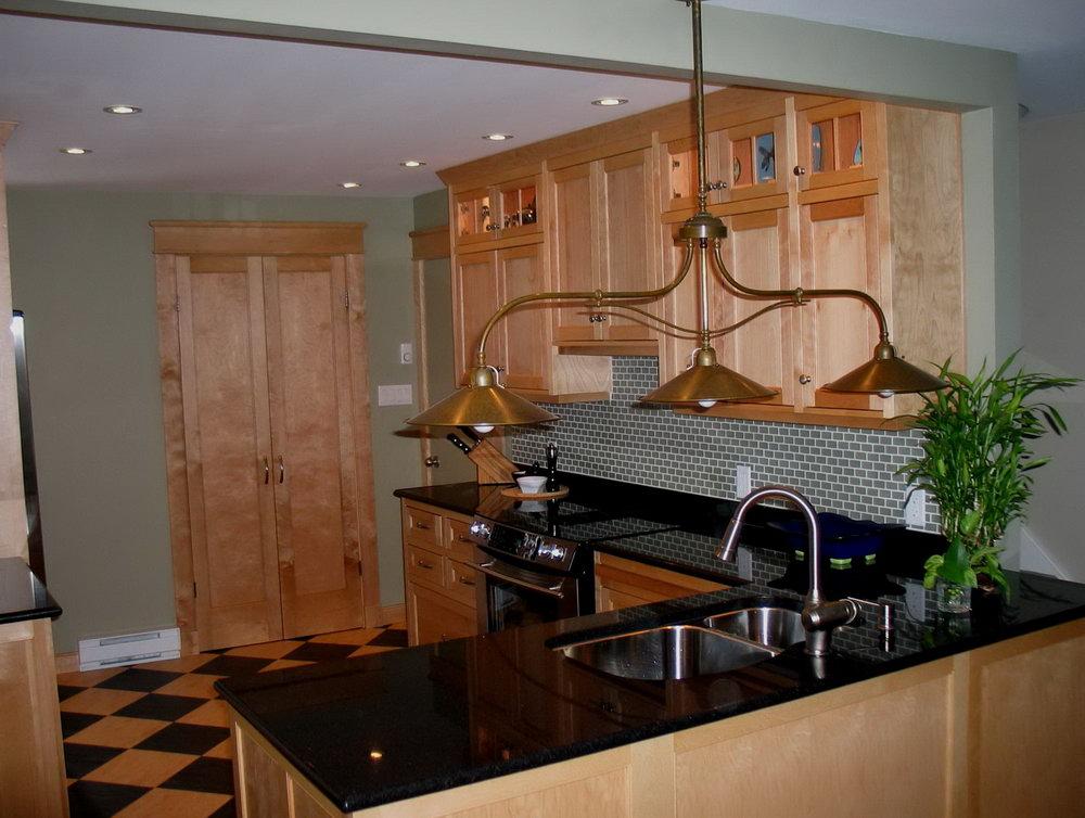 Birch Wood Cabinets Kitchen