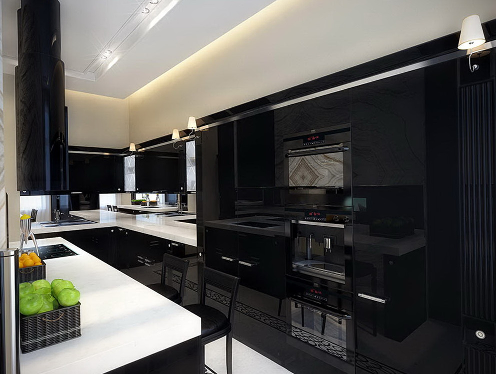Black Cabinet Kitchen Designs
