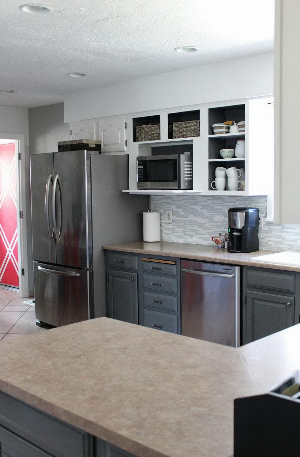 Black Lower Kitchen Cabinets