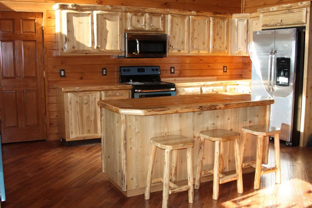 Cedar Wood Kitchen Cabinets
