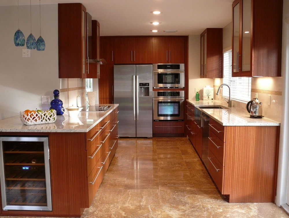 Cherry Mahogany Kitchen Cabinets