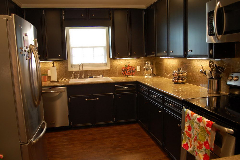 Chocolate Brown Painted Kitchen Cabinets