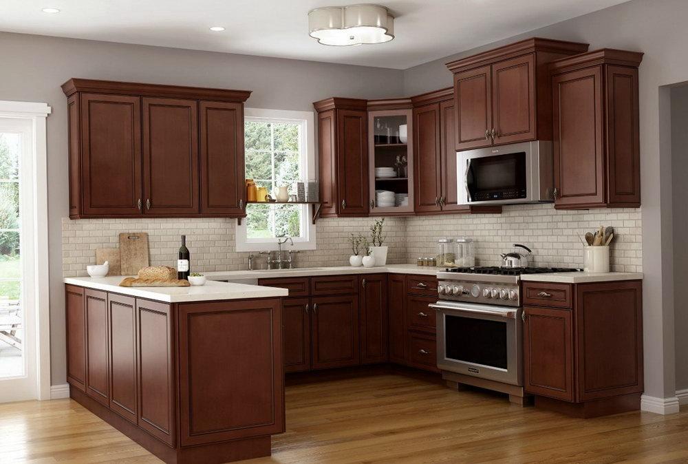 Chocolate Glaze Kitchen Cabinets
