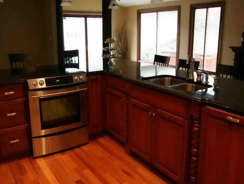 Chocolate Pear Kitchen Cabinets