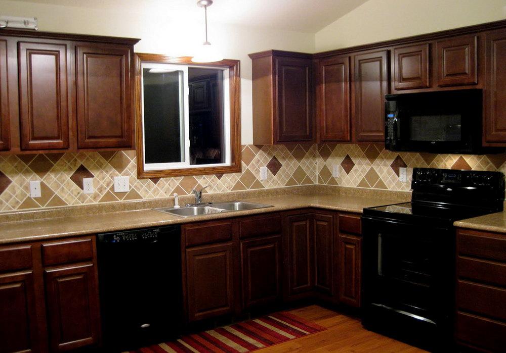 Dark Cherry Kitchen Cabinet