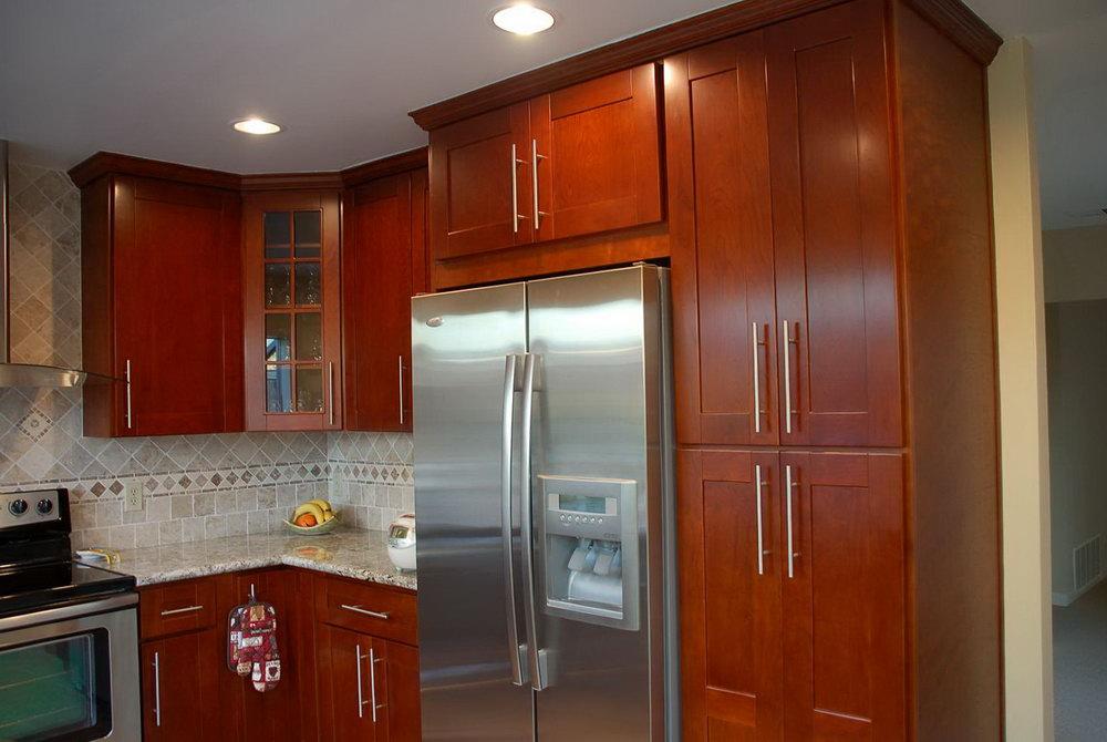 Dark Cherry Stain Kitchen Cabinets