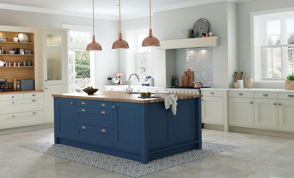 Dark Navy Blue Kitchen Cabinets