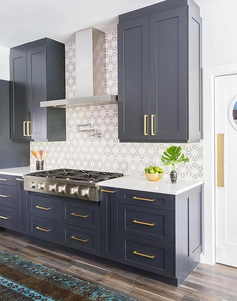 Dark Navy Kitchen Cabinets