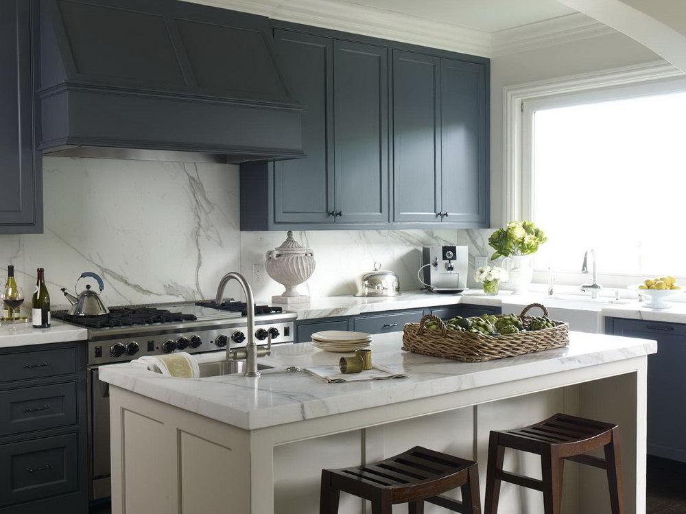 Dark Teal Kitchen Cabinets
