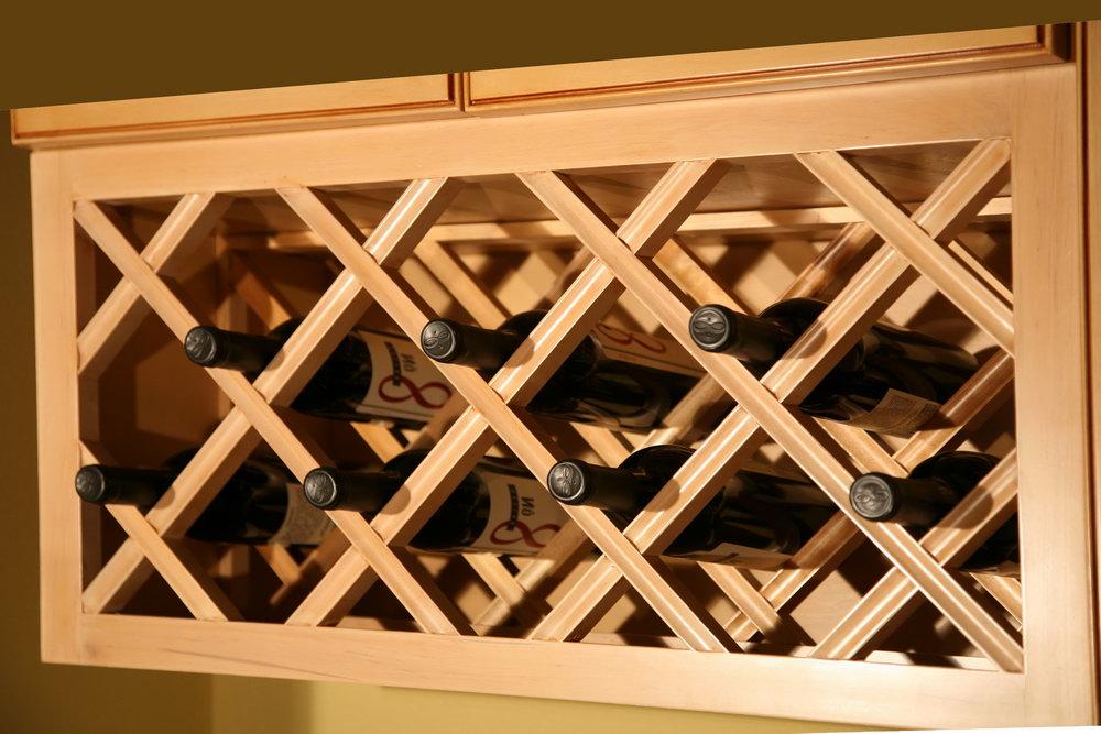 Diy Kitchen Cabinet Wine Rack