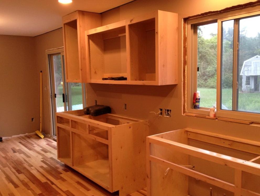 Frameless Kitchen Cabinet Construction