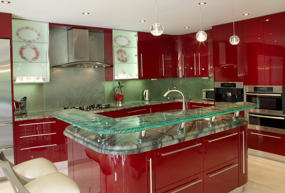 Glass Top Kitchen Cabinets