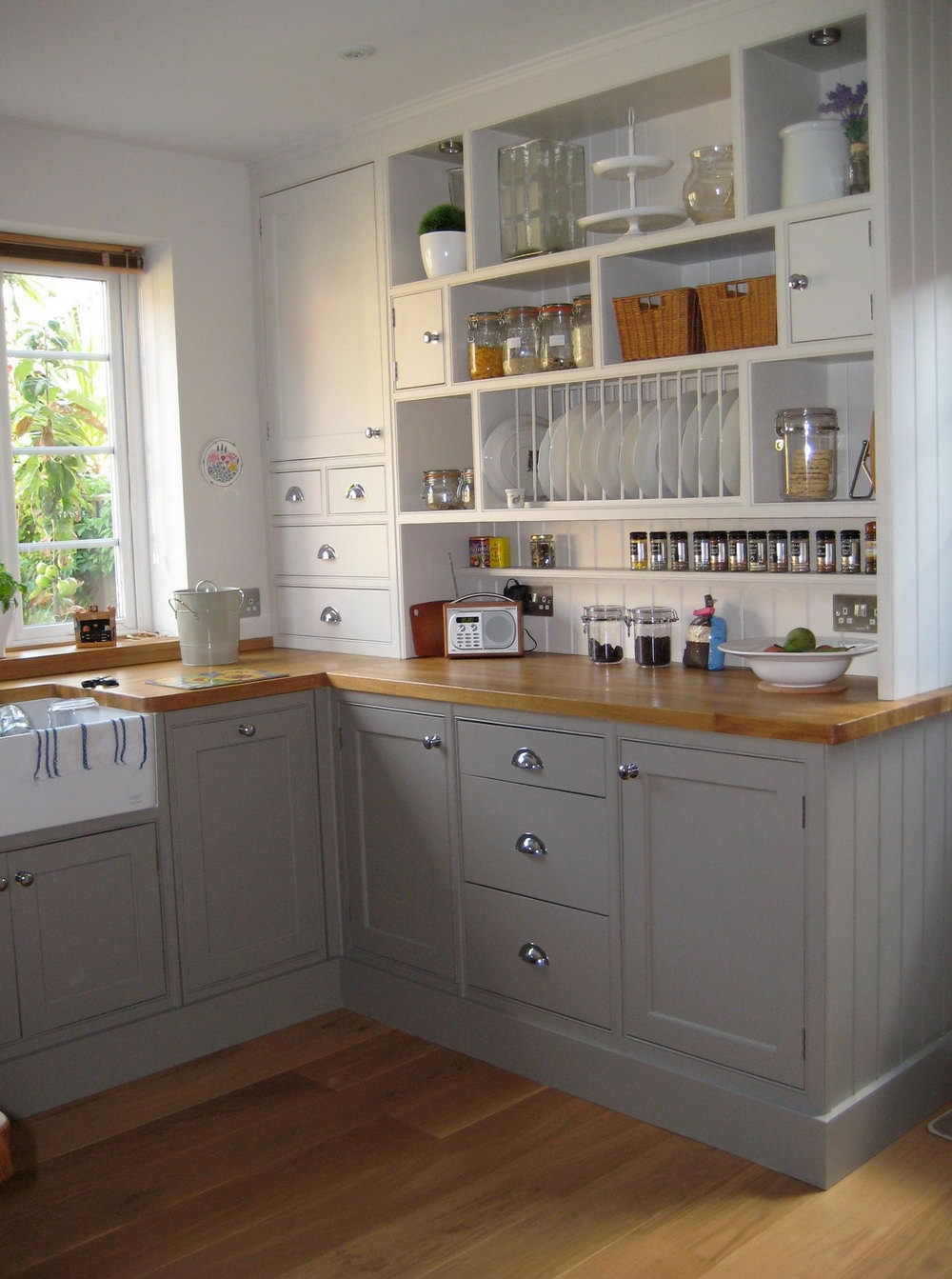 Gray Lower Kitchen Cabinets
