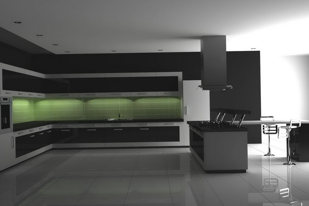 Grey Lacquer Kitchen Cabinets