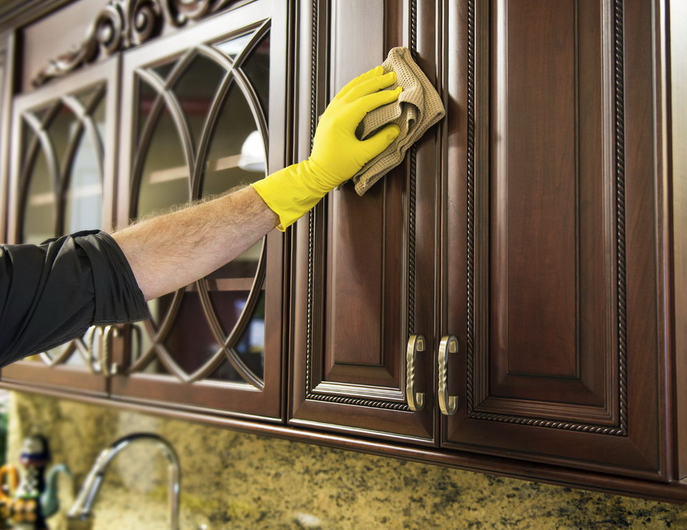 How To Clean Greasy Kitchen Cabinets Wood