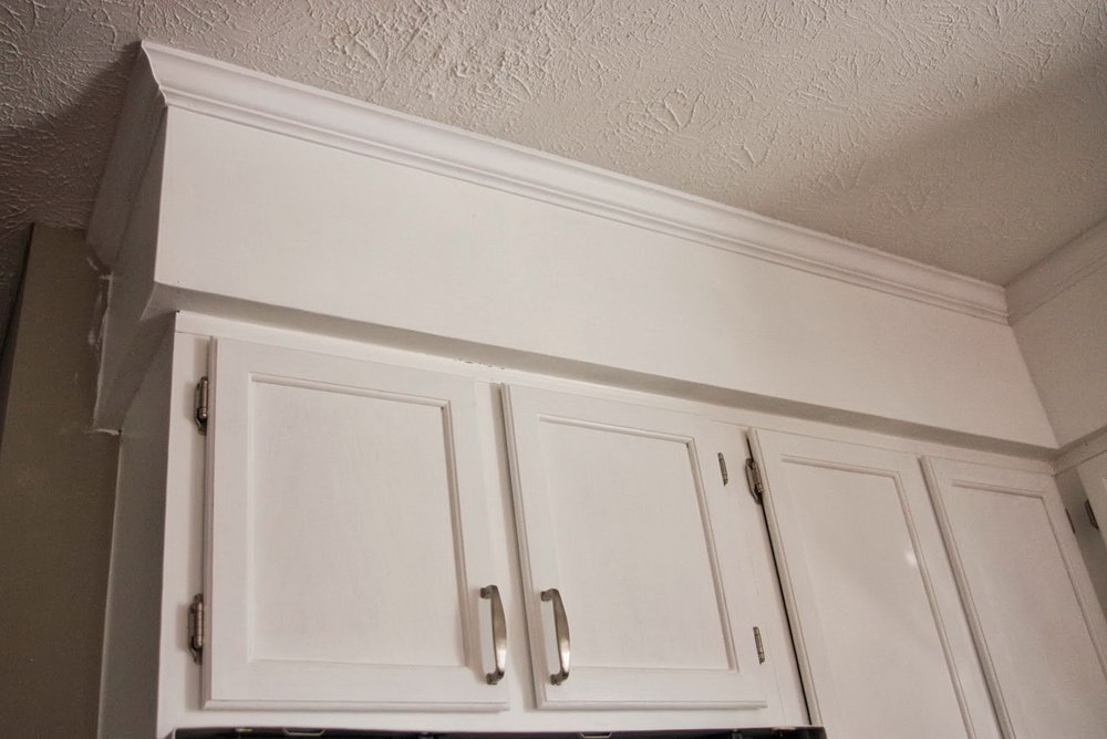 How To Install Crown Molding On Kitchen Cabinets With Soffits