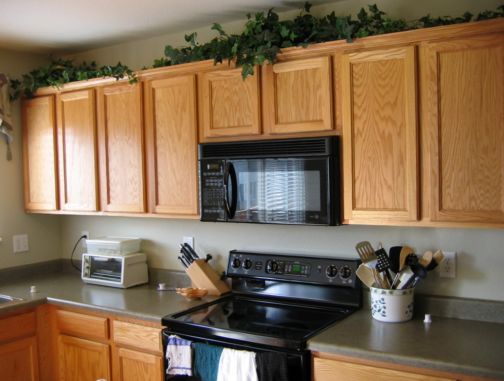 Ideas For Space Above Kitchen Cabinets