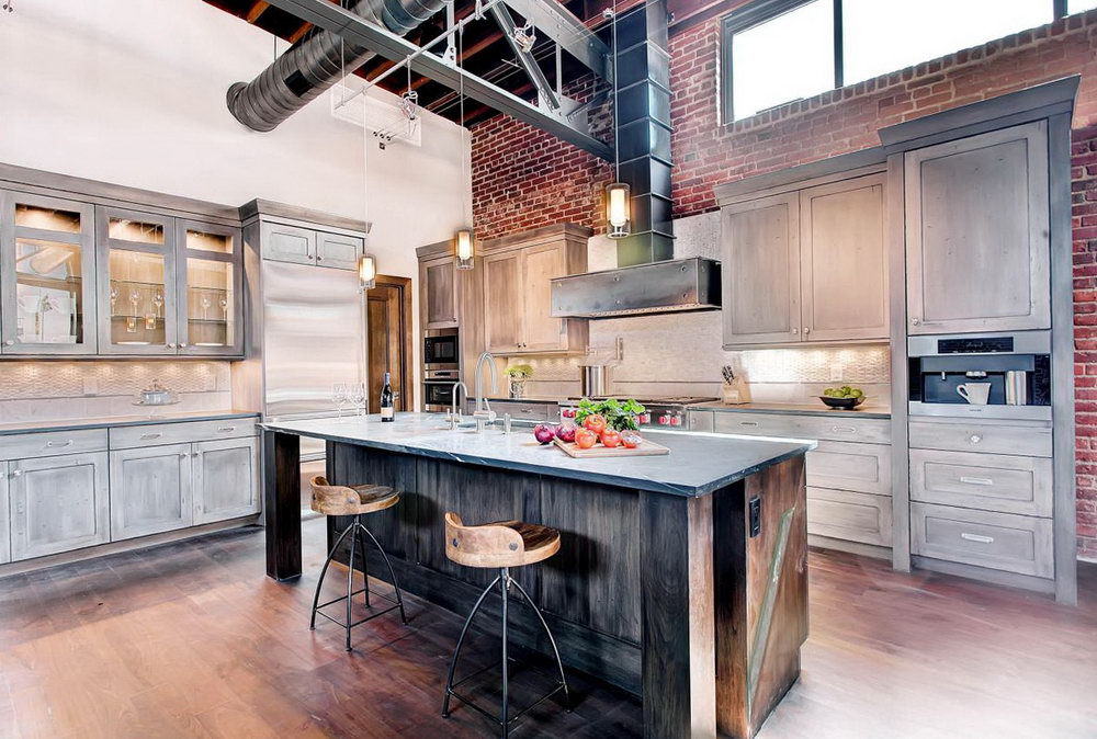 Industrial Kitchen Cabinets Design