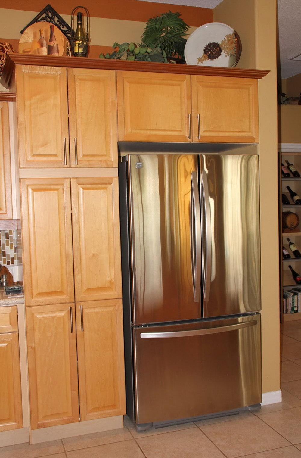 Kitchen Cabinet Pantry Around Fridge
