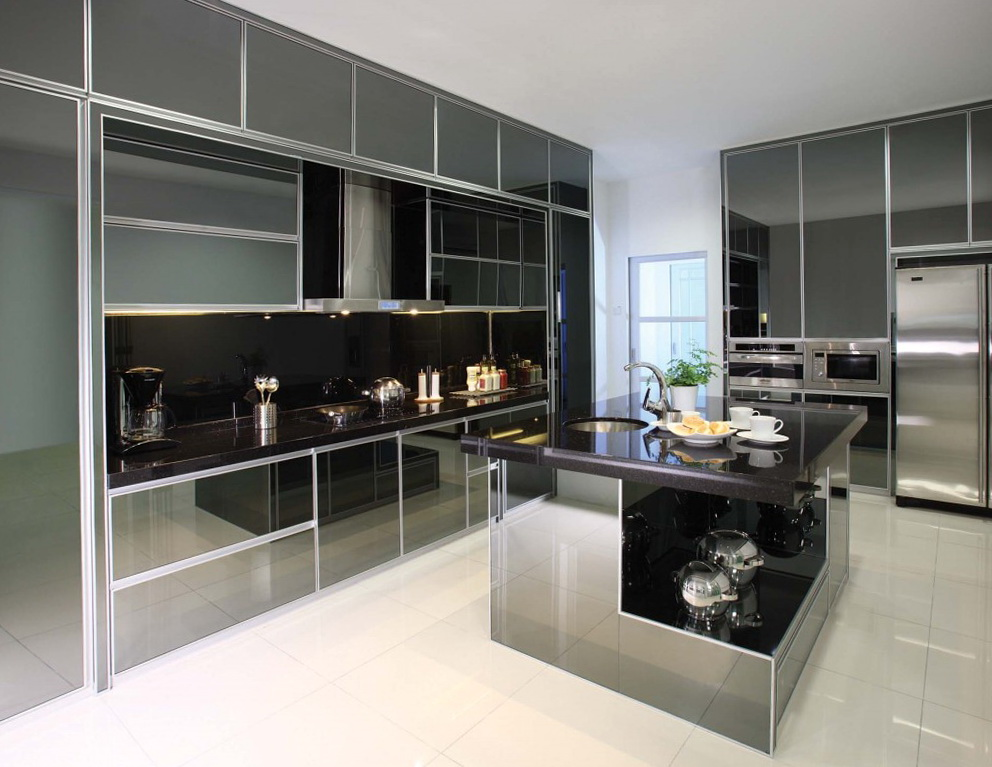 Kitchen Cabinets Designs With Aluminium