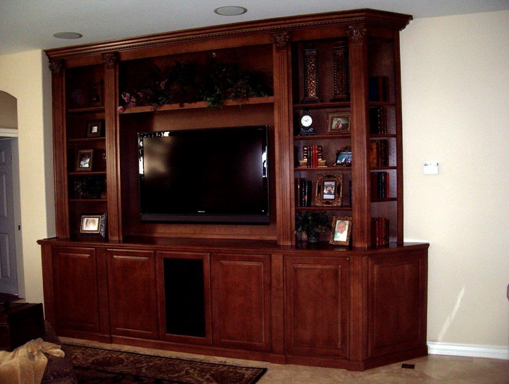 Kitchen Cabinets Used As Entertainment Center