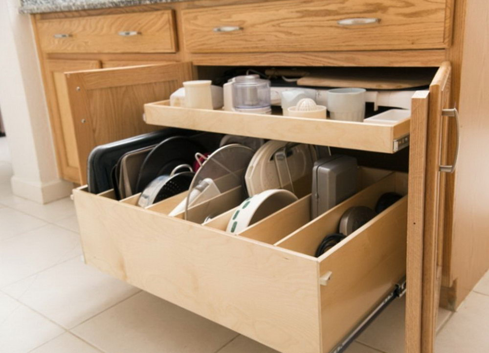 Kitchen Cabinets With Drawers That Roll Out