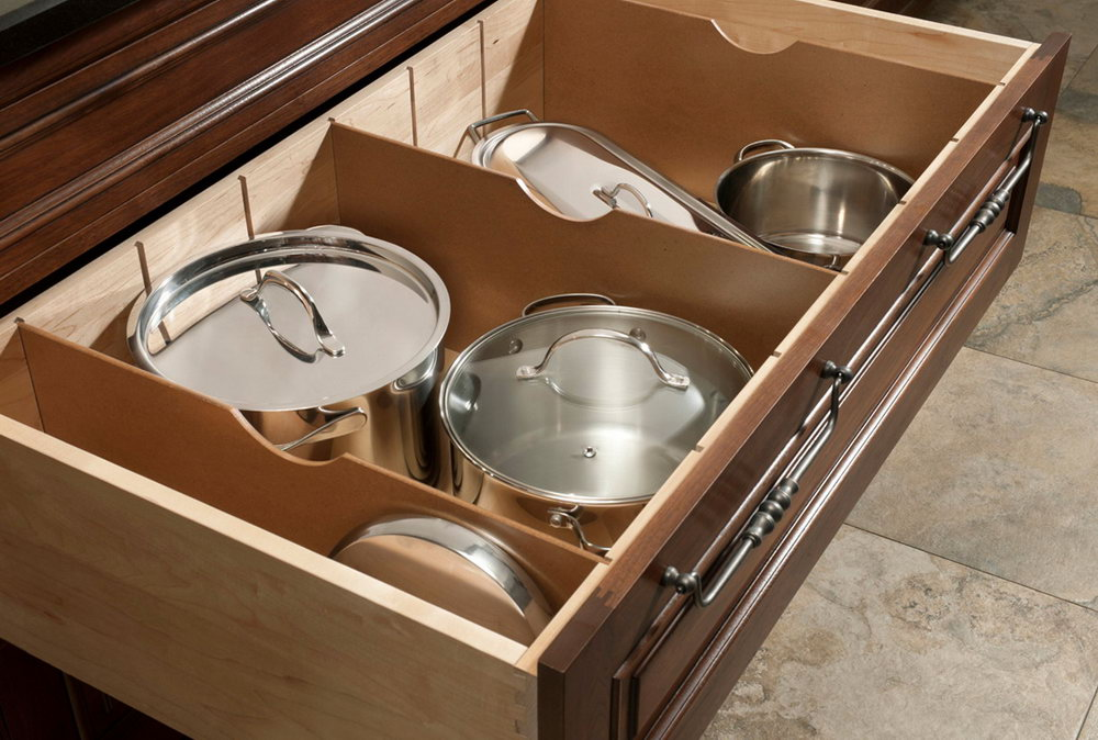 Kitchen Cabinets With Pot Drawers