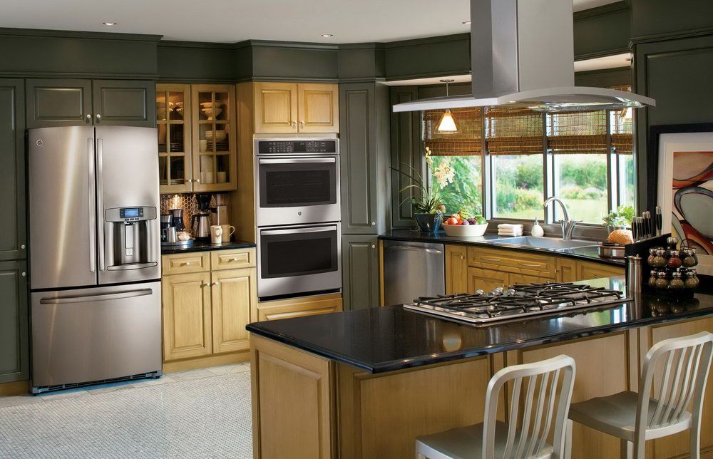 Kitchen Cabinets With Stainless Steel Appliances