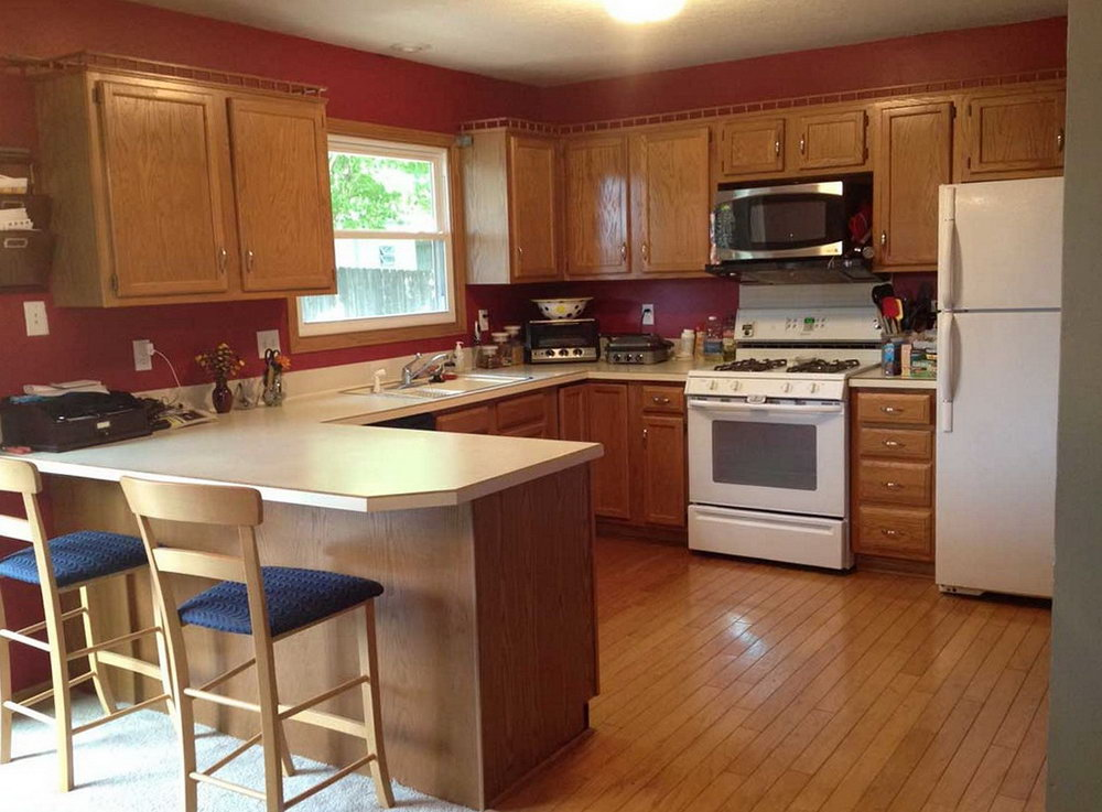 Kitchen Paint Colors With Dark Maple Cabinets