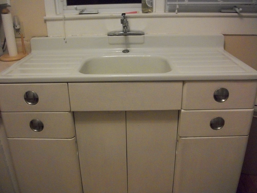 Kitchen Sink And Cabinet All In One