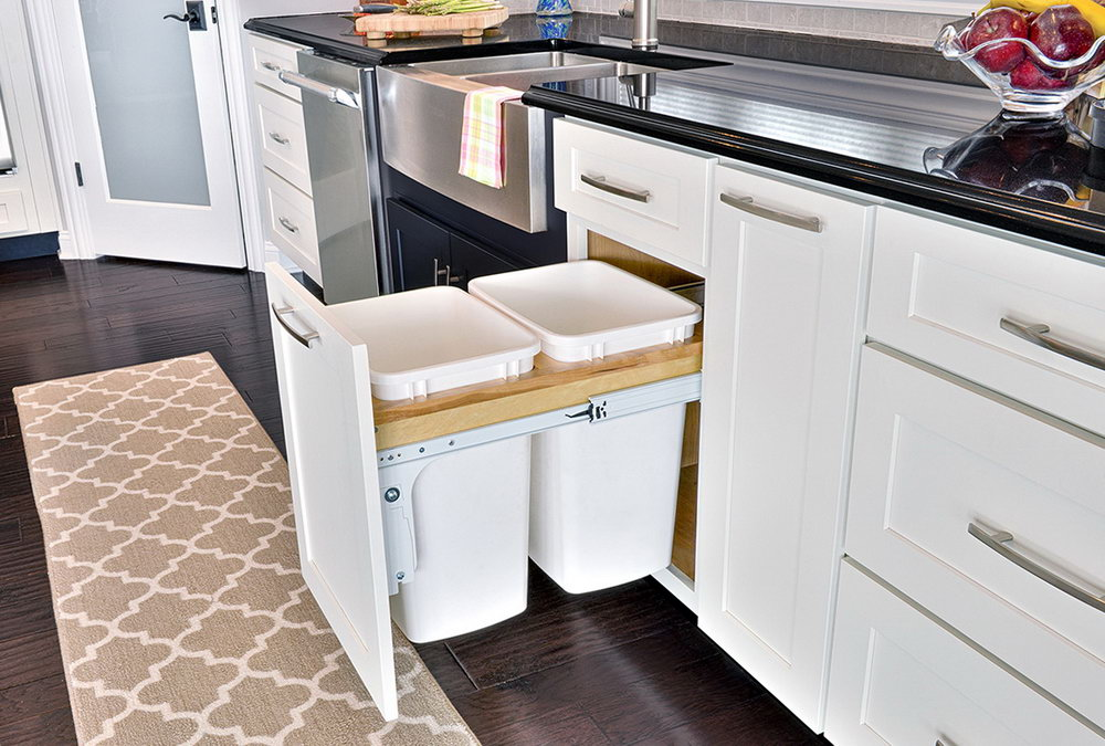 Kitchen Trash Can Cabinet Door