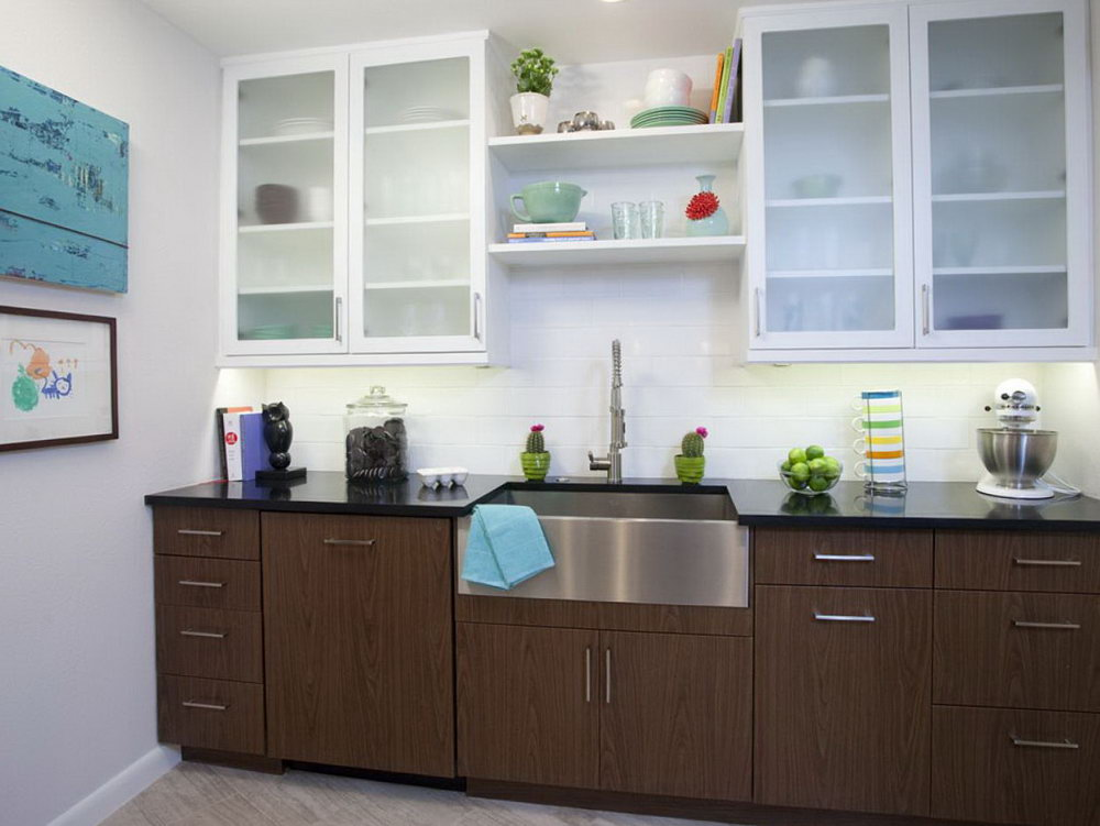 Kitchen Without Lower Cabinets