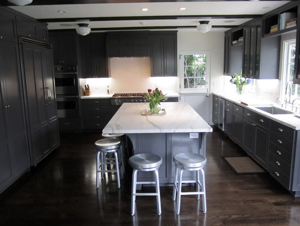 Kitchens With Dark Gray Cabinets