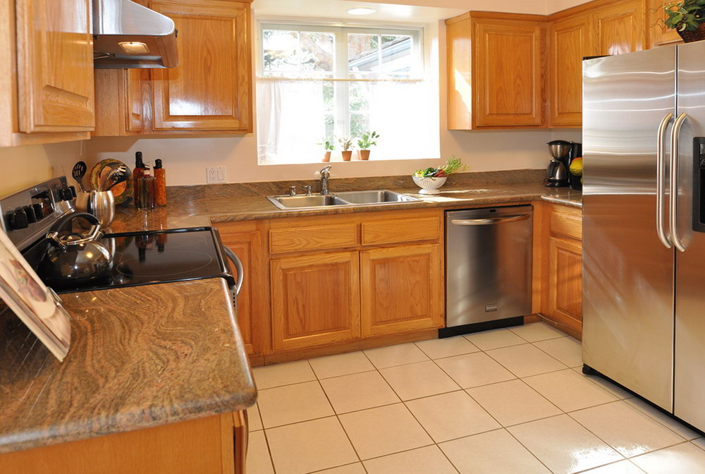 Kitchens With Oak Cabinets And Granite Countertops