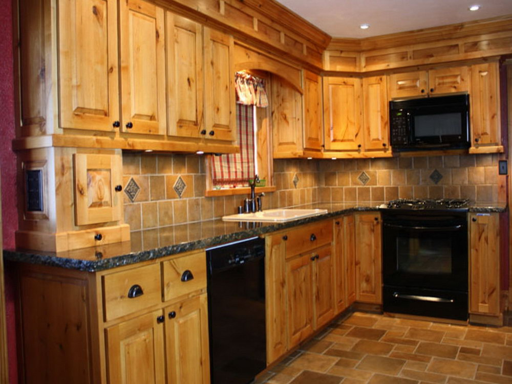 Knotty Alder Kitchen Cabinets Price