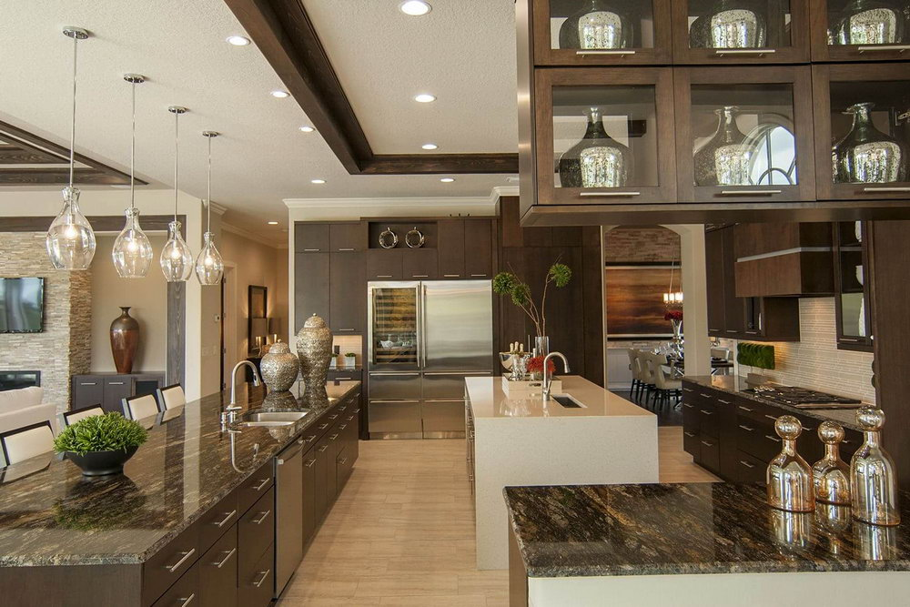 Light Kitchen Cabinets With Dark Island