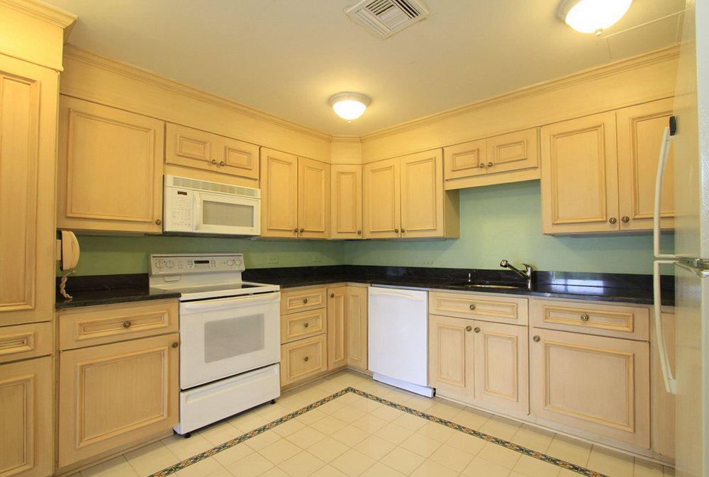 Light Wood Kitchen Cabinets With Black Countertops