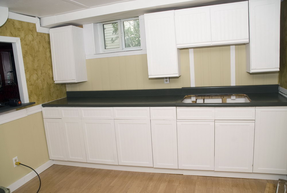 Melamine Kitchen Cabinets Makeover