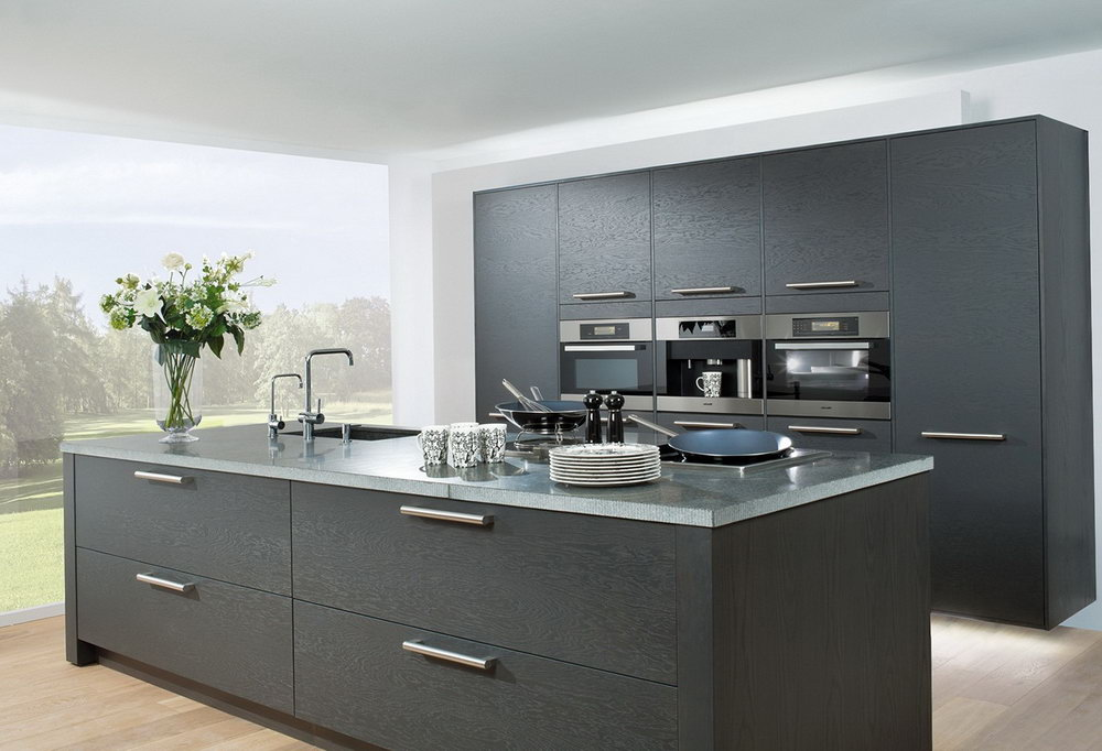 Modern Grey Kitchen Cabinets