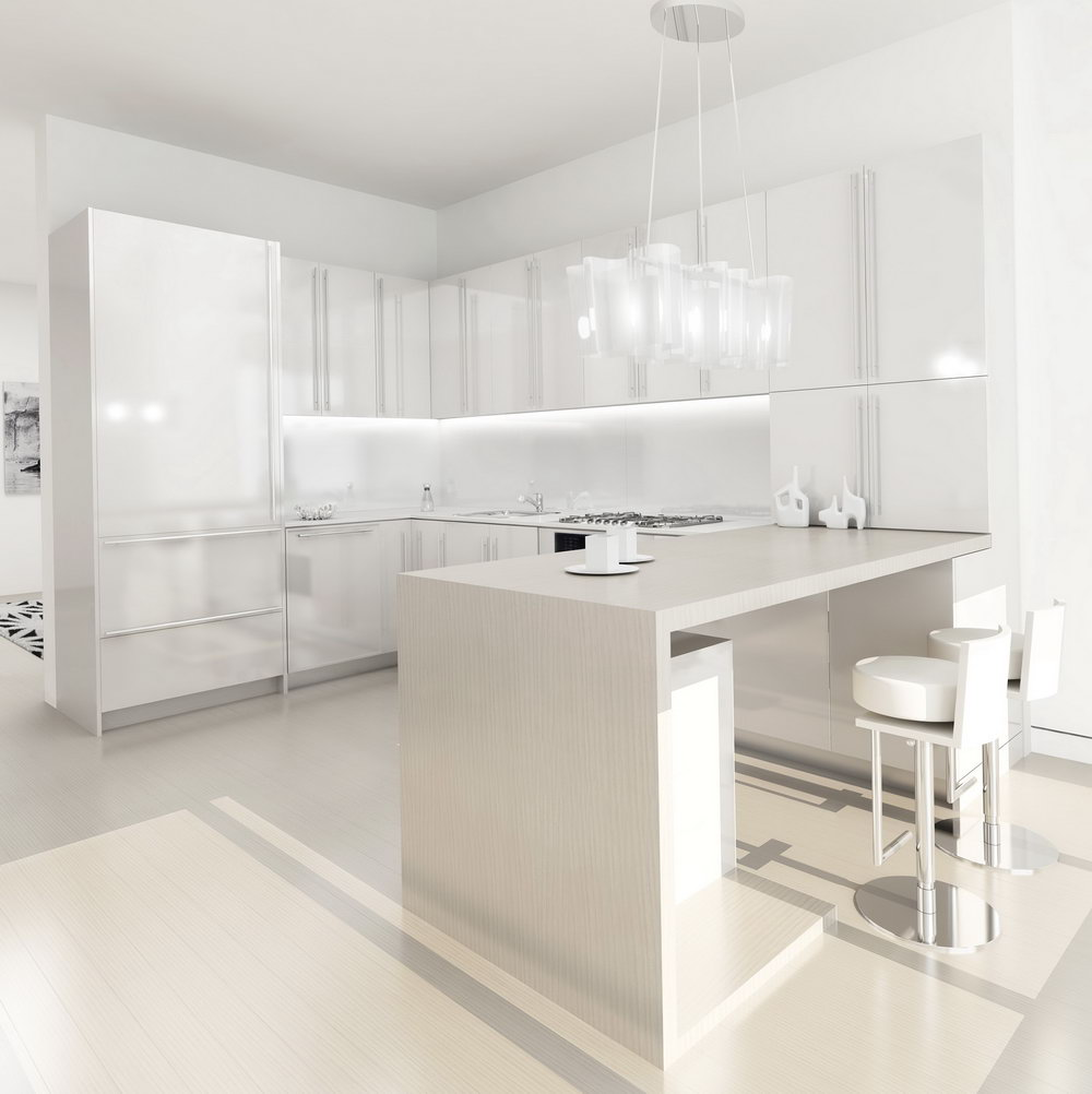 Modern White Kitchen Cabinets Design